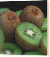 Fresh Kiwi Wood Print