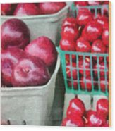 Fresh Market Fruit Wood Print