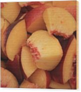 Fresh Peaches Wood Print