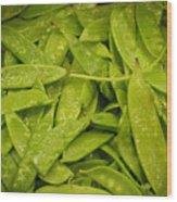 Fresh Peas Wood Print