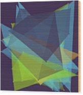Fresh Polygon Pattern Wood Print