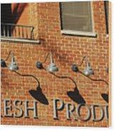 Fresh Produce Signage Wood Print
