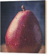 Fresh Ripe Red Pear Wood Print