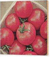 Fresh Ripe Tomatoes Wood Print