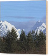 Fresh Snow On Golden Ears Wood Print
