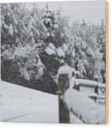 Fresh Snowfall Wood Print