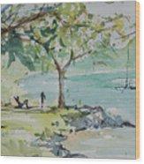 Fresh Spring On West Bay Wood Print
