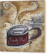 Fresh Start Original Painting Madart Wood Print