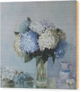 Fresh Summer Hydrangea 2 Wood Print