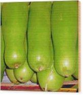 Fresh Vegetable Gourd Wood Print