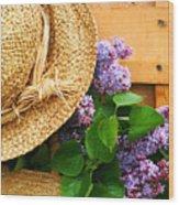 Freshly Picked Lilacs Wood Print