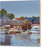 Freshwater Fishers Wood Print
