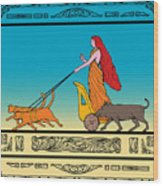 Freya Norse Goddess Wood Print by Aloysius Patrimonio