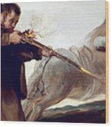 Friar Pedro Shoots El Maragato As His Horse Runs Off Wood Print