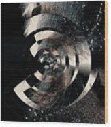 Friction Wheel Wood Print