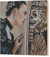 Frida Catrina Wood Print