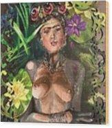 Frida De Ophelia Wood Print