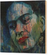 Frida Kahlo Colourful Icon  Wood Print
