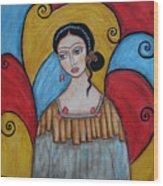 Frida Kahlo Wood Print by Rain Ririn