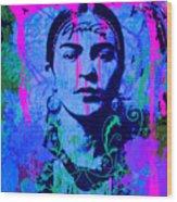 Frida Kahlo Street Pop Art No.1 Wood Print