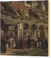 Friday At The Colosseum In Rome Amerigo Y Aparici  Francisco Javier Wood Print