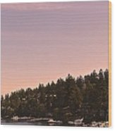 Friday Harbor Panorama Wood Print