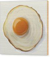 Fried Egg Wood Print