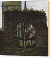 Friedrich Caspar David The Cemetery Gate Wood Print