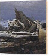 Friedrich Caspar David The Sea Of Ice Wood Print