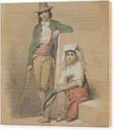Friedrich Gonne  Two Italian Youths Wood Print