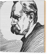 Friedrich Nietzsche Wood Print