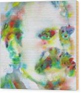 Friedrich Nietzsche - Watercolor Portrait.10 Wood Print