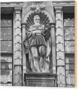 Friedrich The Wise B W Wood Print