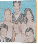 Friends Episode Mosaic Wood Print