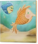 Friendship Fish Wood Print