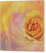 Friendship Rose Textured Wood Print