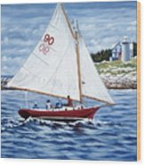 Friendship Sloop Wood Print