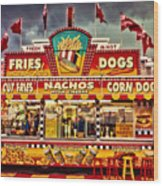 Fries Nachos Dogs Wood Print