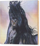 Friesian Spirit Wood Print