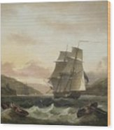 Frigate Of The Royal Navy Wood Print