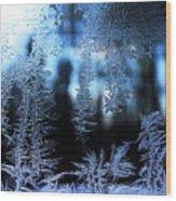 Frigid Blue Morning Wood Print
