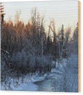 Frigid Sunrise Wood Print
