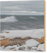Frigid Waves Wood Print