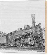 Steam Driven Locomotive Wood Print