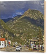 Frisco By The Mountain Wood Print