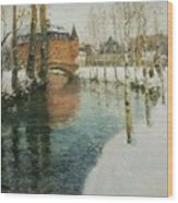 Frits Thaulow    A Chateau In Normandy Wood Print