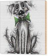 Frizzy Dog Wood Print