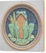 Frog Ceramic Plaque Wood Print