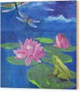 Frog Dreams Wood Print