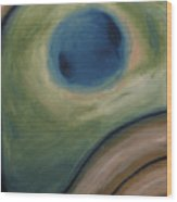 Frog Eye In The Nebula System Wood Print